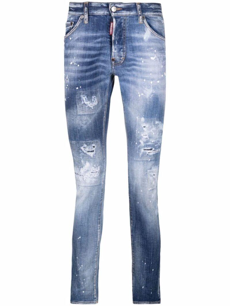 Dsquared2 Jeans slim Skater con effetto vissuto