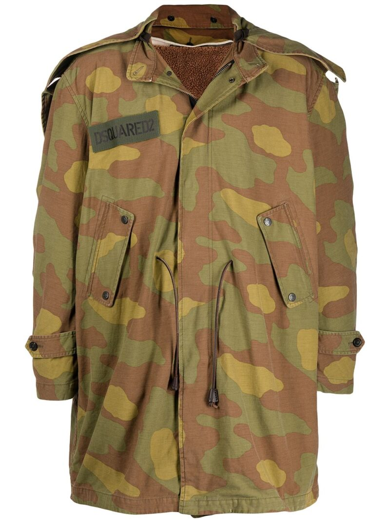 Dsquared2 Parka con stampa camouflage